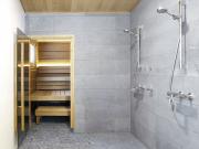 Tulikivi täljsten, duschrum, golv och vägg
